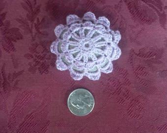 Crochet Stone Lace Rock Fiber Art Home Decor