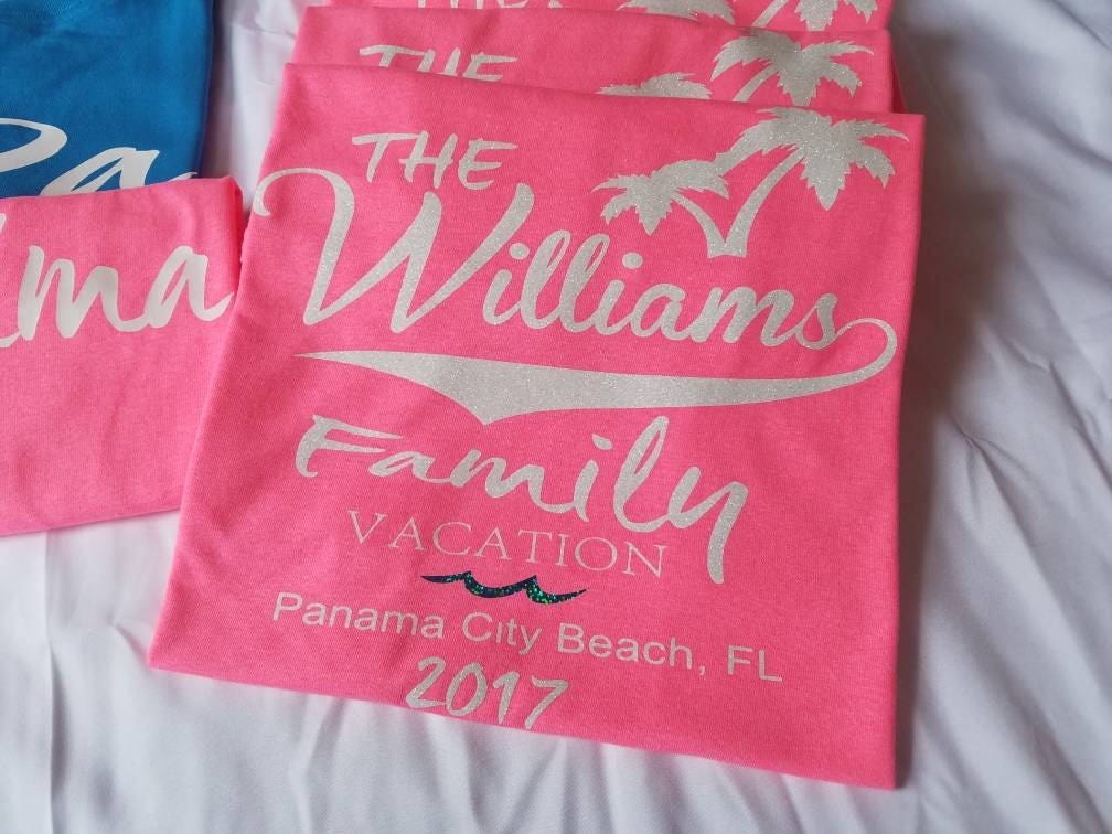 Family vacation shirt road trip shirt personalized vacation for Custom t shirts family vacation