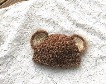 Crochet Baby Bear beanie