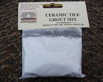 50g White Miniature Ceramic/Marble/Granite Tile Grout
