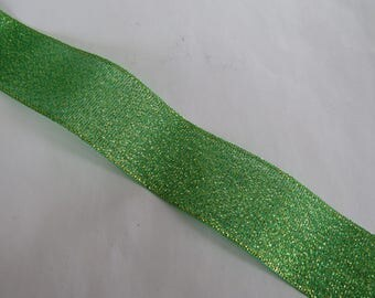 Pretty green and Gold Ribbon with reflections.