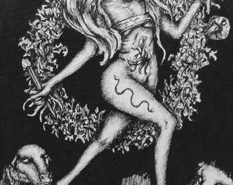 Universe Tarot Original Drawing