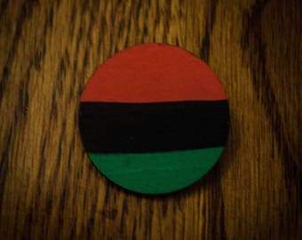 RBG Flag Wood Pin