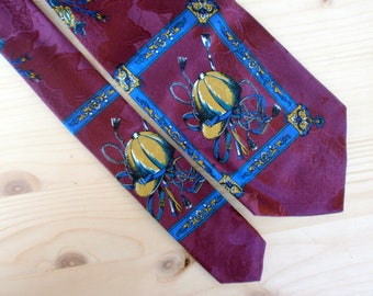Mens Silk Horse rider Equestrian tie GIORGION Hipster Festival clothing Purple suit necktie Italian designer Casual wear Gift for dad