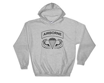 Airborne Hooded Sweatshirt BLK Ink