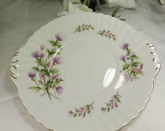 "Thistle Cake Plate "" Lochinvar"" Queen Anne Vintage"