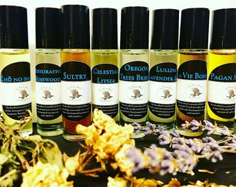 Essebtial oils - essential oil blends - all natural - essential oil perfumes - essential oil rollons - aromatherapy - floral- earthy - herbs
