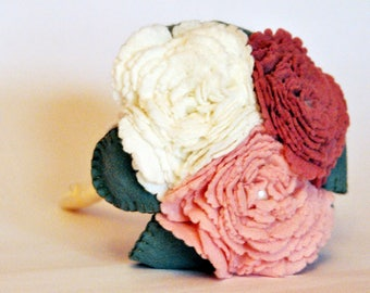 Custom order for Amelia / set of two flower girl bouquets