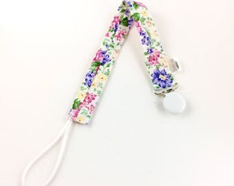 Bouquet Soother Clip, Pacifier Clip, Toy Clip