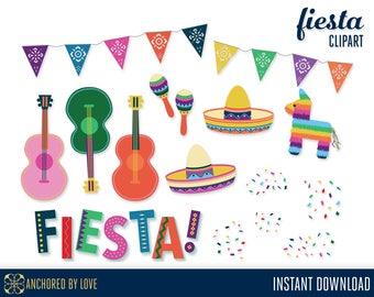 Fiesta Clipart, Cinco de Mayo Clipart, Mexican Clipart, Mexican Fiesta Clip Art, Pinata Clip Art, Sombrero Clipart, Guitar Clip Art