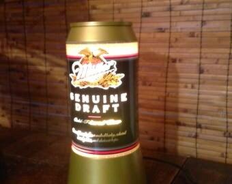 Vintage  Advertising  Revolving Bar Light Miller Genuine Draft, Bar Decor