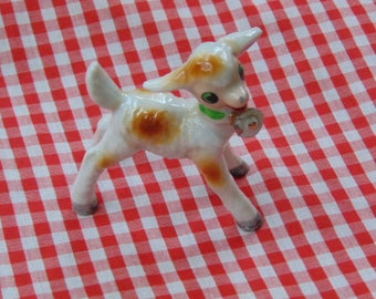 Ceramic Lamb, Nursery Decoration, Baby Lamb , Made In Japan, MIJ, NurseryDecor, Holiday Decor