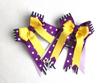 Horse show Hair Bows /Equestrian Gift/Hair Accessory/Ready2Mail with Elastic Loops