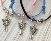 Faux Suede Summer Bracelet, Summer Angel Bracelet, Angel Heart Fairy Robot Bracelet, Friendship Bracelet, Faux Suede Adjustable Bracelets