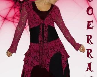 Set 4 pieces, Bolero, tunic, pants and skirt 'Plum style' '