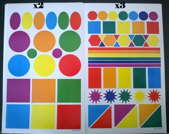 Set of 5 sheets of approximately 200 stickers.