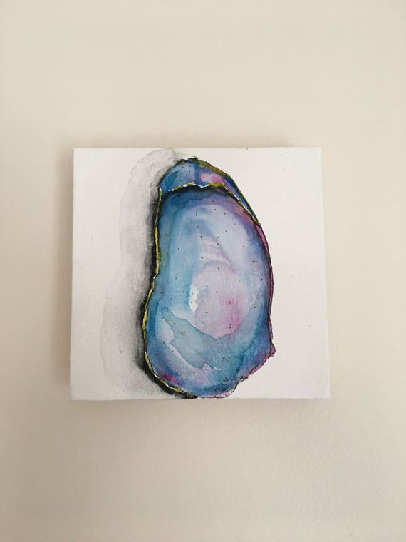 Watercolor Oyster Painting