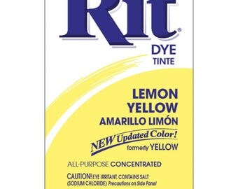 Powder Rit Dye - Lemon Yellow All Purpose Concetrated
