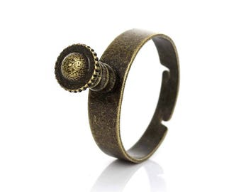 1 ring adjustable bronze 18 mm with screws