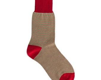 New Season Women's Striped Green Casual Socks