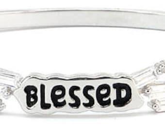 Good Works Make a Difference Inspirational Epic Bangle Bracelet Gift Set Silver