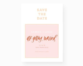 Modern + Minimal Save the Date - digital file