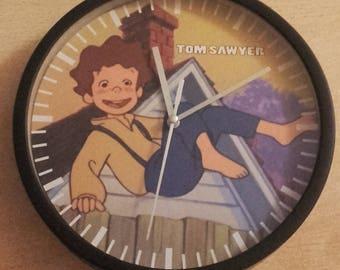 Clock wall Tom Sawyer