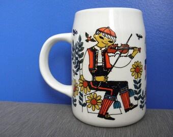 Vintage Stavangerflint Market Cup - Per Spelmann, Norwegian folksong - Norway - 1960s