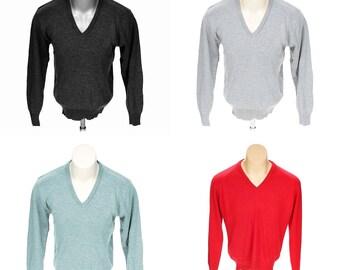 Lot of 4 Vtg Par Four Sportswear V-Neck Men's Sweaters New Sz Large