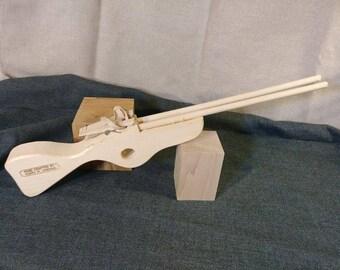 Classic double barrel rubber band gun