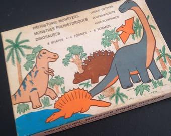 Vintage 1980s Fox Run Prehistoric Monsters Cookie Cutters