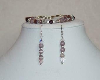 Playful Purple Bracelet & Earrings Set