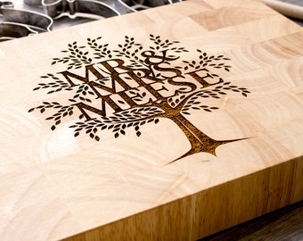 Family Tree Cutting Board, Personalised Cutting Board, Valentines Gift For Couple, Foodie Gift, Custom Chopping Board, Wedding Gift