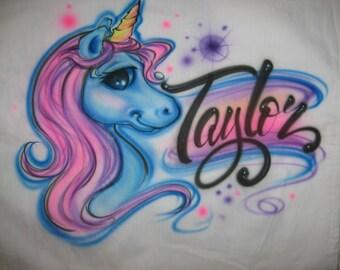 Custom Airbrushed Unicorn Pillowcase