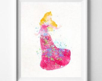 Princess Aurora, Sleeping Beauty, Sleeping Beauty Art, Disney Princess, Aurora Art, Disney Art, Watercolor Painting, Type 1, Valentines Day