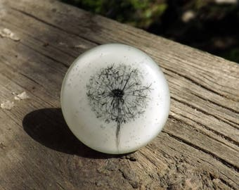 Dandelion (fused glass ring)