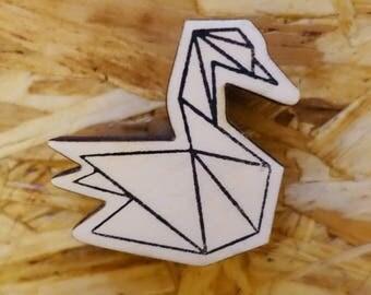 Stamp Origami Swan
