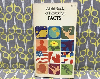 World Book of Interesting Facts by the World Book Encyclopedia paperback book vintage