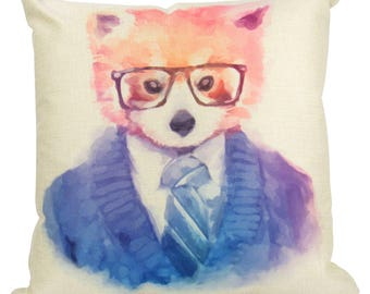 Hipster Red Panda  -Pillow Cover