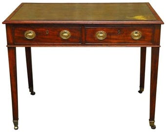 George III Leather Top Mahogany Writing Desk Or Library Table