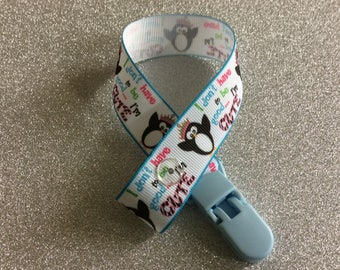 I don't have to be good ... l'm CUTE themed grosgrain ribbon dummy clip