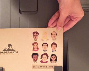 Printable The Office TV Show Birthday Card, Dunder Mifflin Card, Print at Home Card, Love Anniversary Card
