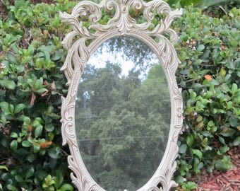 Large vintage syroco mirror / bathroom mirror