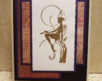 """Fairy Sentiments Handmade Card """"You Make My Heart Flutter"""""""