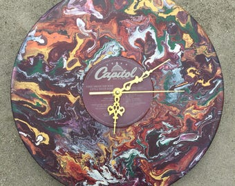 The little River Band hand painted record clock