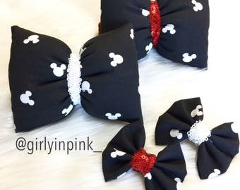 Mickey Silhouette Bows