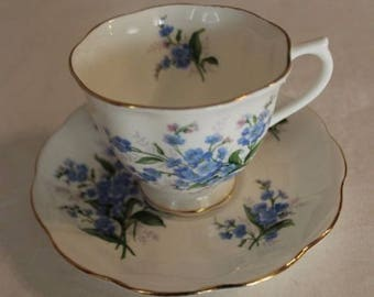 Royal Albert Cup & Saucer FORGET ME NOT Bone China England