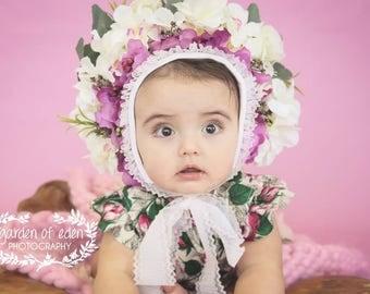 Alina Floral Bonnet