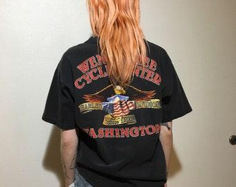 1998 Harley Davidson T-Shirt - Medium - Vintage Tee - Vintage Clothing - Biker Tee - Motorcycle - Shovelhead -