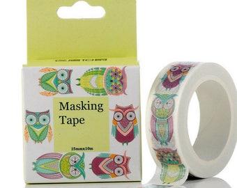 OWL Washi tape OWL - Washi tape, tape, adhesive stick
